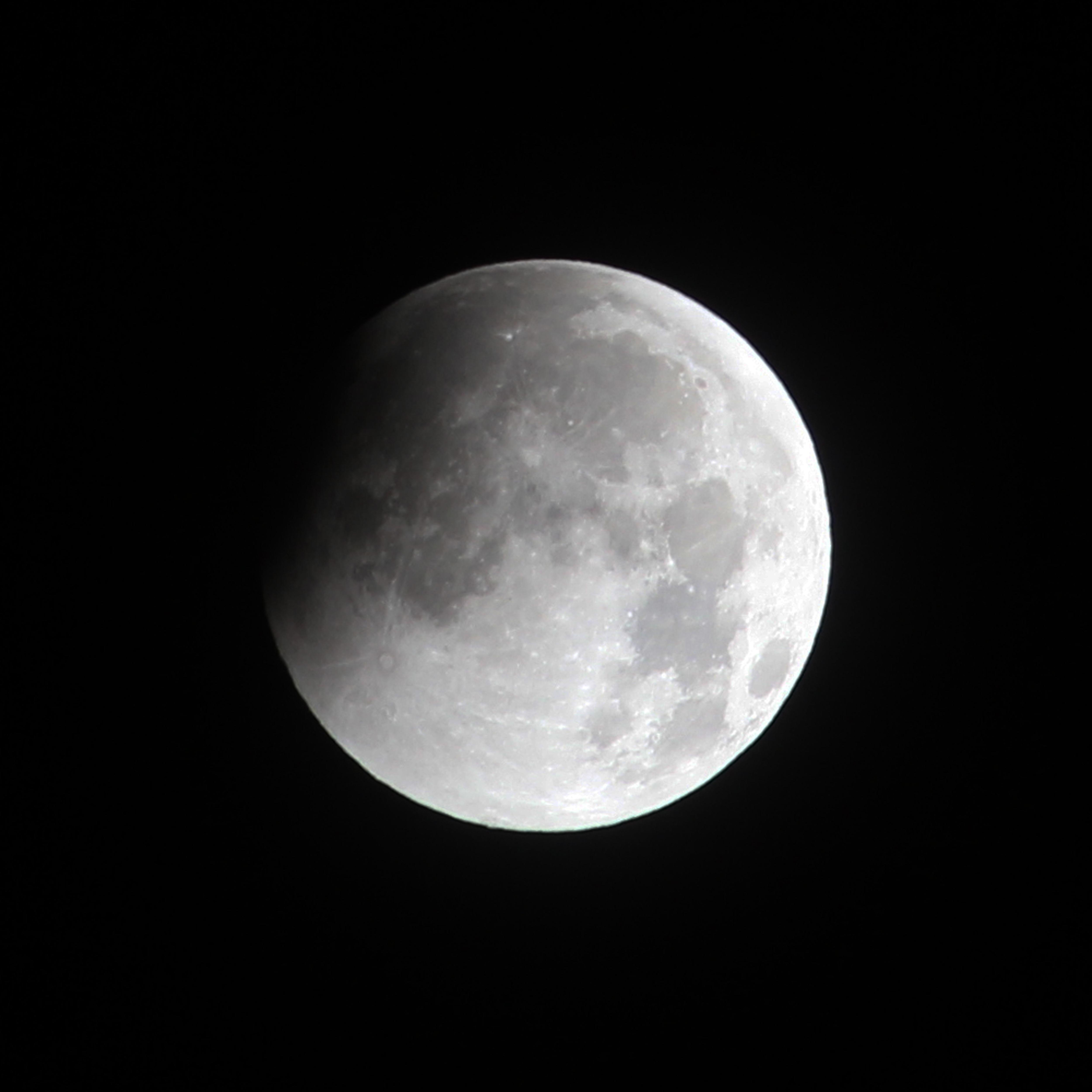 Débute de l'éclipse lunaire