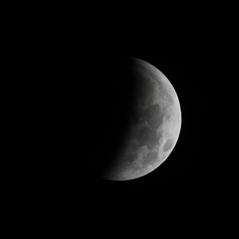 Eclipse lunaire, 2.09 am