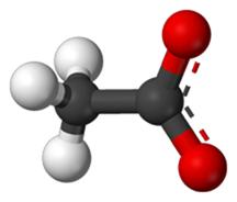 Sodium-Acetate-molecule