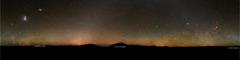 The darkest sky, Milky Way all around the horizon, Gegenschein