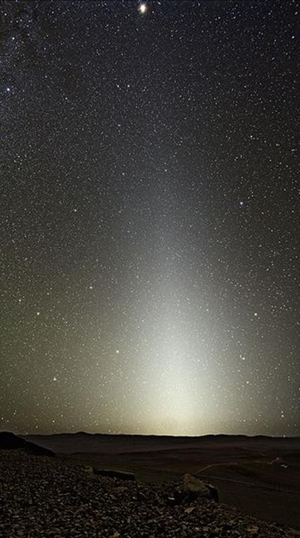 Lumière Zodiacale depuis le Cerro Paranal, Y.Beletsky