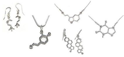 Bijoux acetylcholine, dopamine, serotonine, oestrogène et cafféine