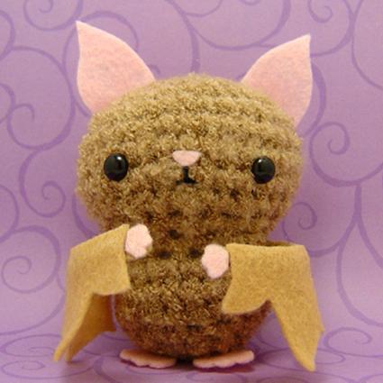 Baby plush bat