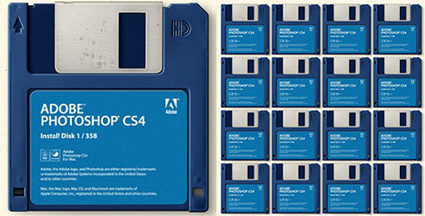 Adobe Photoshop CS4 in the Age of Floppy Disks