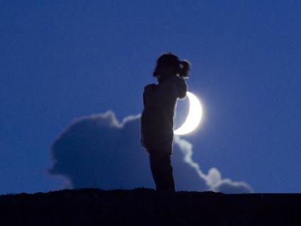 La Lune pour sac à dos. Laurent Laveder