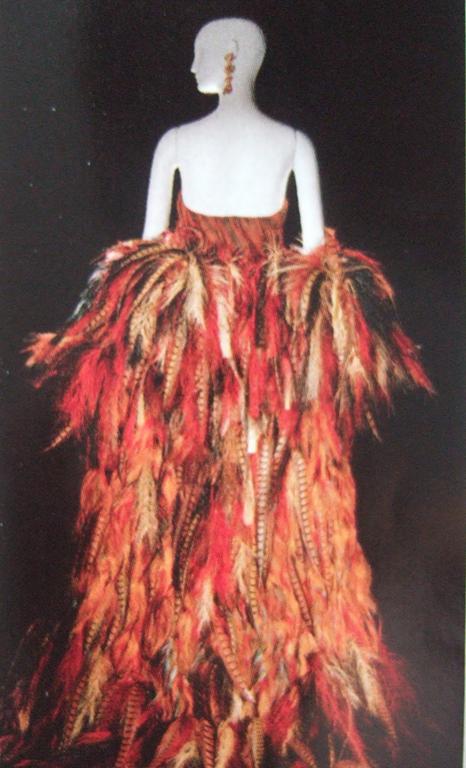 Manteau de plume d'Yves Saint Laurent