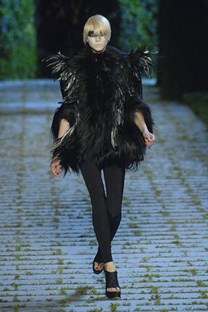 Manteau Dior Plumes de Coq