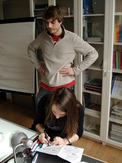 Making-Of de la vidéo 'Pourquoi on pleure quand on coupe des oignons', Stéphane Debove, Lucile Zahnd