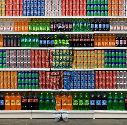 Liu Bolin, Supermarket No. 2, 2010
