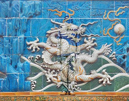 Liu Bolin Hiding in the City - Dragon Series, No. 3 of 10 panels, 2010