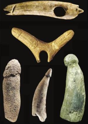 Phallus d'El Pendo, des Gorges d'Enfer, de La Madeleine, de Blanchard et de Castanet
