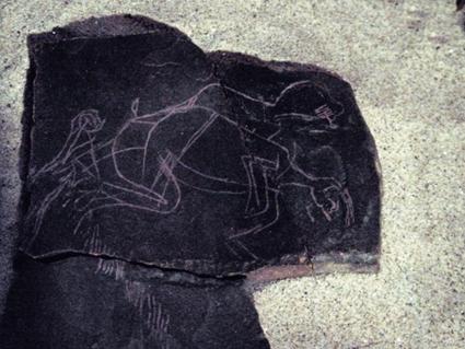 Gravure de la grotte de La Marche