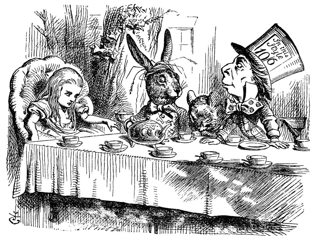 Le Chapelier fou d'Alice au Pays des Merveilles