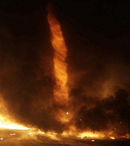Tornade de feu en Hongrie