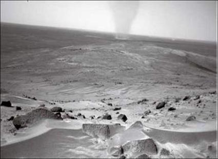 Tornade martienne vue par Spirit