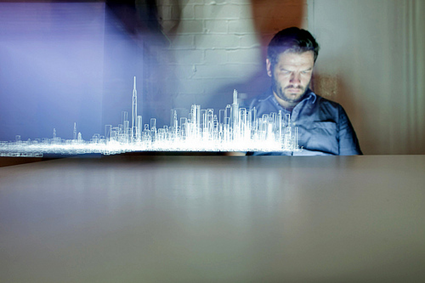 light painting the city par Berg studio