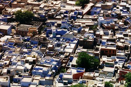 Vue de la ville de Johdpur sans effet Till-Shift