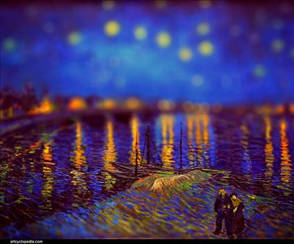 Vincent van Gogh, Nuit étoilée au dessus du Rhône, 1888