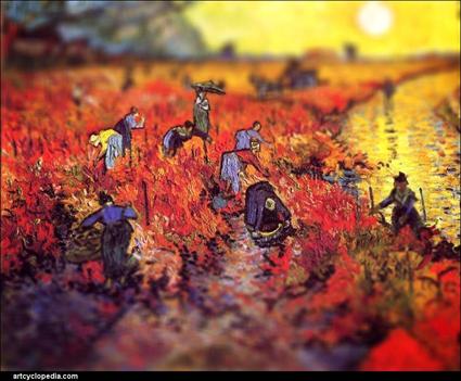 Van Gogh, Les vignes rouges, 1888