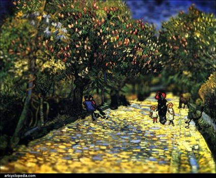 Van Gogh, Noisettes rouges dans un parc public à Arles, 1889